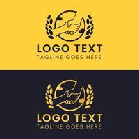 logotipo abstrato do círculo de aperto de mão vetor