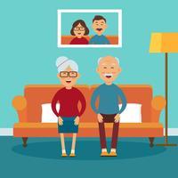 Vetor de família de avós