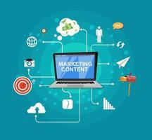 internet marketing flat design digital marketing flat vector design internet das coisas tecnologia ilustração vetorial