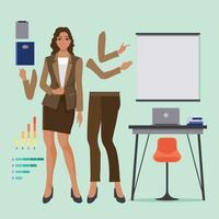 Ilustração de mulher profissional africana com roupa de mulher de negócios vetor