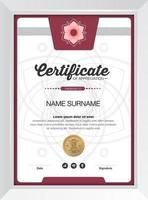 modelo de design de fundo de certificado vetor