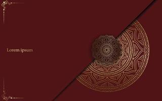 Mandala de ouro de luxo ornado de fundo pro vetor