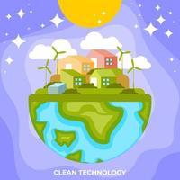 tecnologia limpa e verde vetor