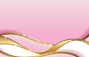 fundo rosa dourado de luxo abstrato vetor