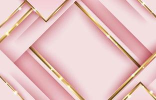 fundo geométrico ouro rosa abstrato vetor