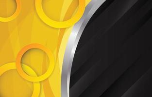 fundo abstrato amarelo com elementos de círculo vetor