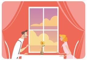 Jovem casal namoro vector