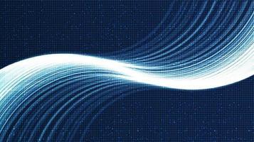 escala de onda sonora digital baixa e alta mais rica em fundo azul claro vetor