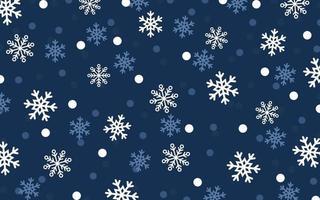 neve caindo em fundo azul escuro vetor