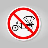 proibição de placa de bicicleta ou triciclo vetor