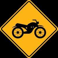 sinalização de trânsito de alerta, continue andando de moto vetor
