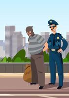 Oficial de polícia no dever vetor