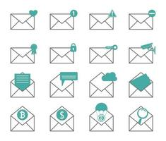 ícone de correio novo estilo de design simples de notificação por e-mail vetor