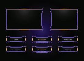 Twitch streamer panel overlay design set vetor
