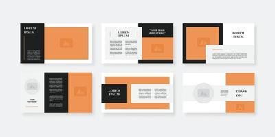 modelo de slides de powerpoint de estilo mínimo vetor