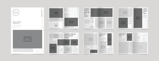 modelo de design de layout de portfólio de fotografia simples vetor