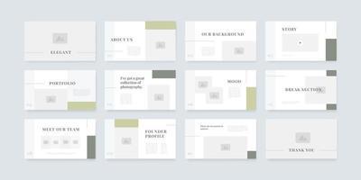 modelo de design de slides de apresentação em PowerPoint e keynote vetor