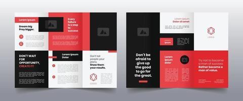 modelo moderno de folheto de negócios com três dobras vetor