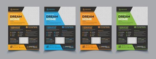 conjunto de modelo a4 para conserto de casa vetor