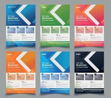 Conjunto de novos modelos de panfletos corporativos modernos vetor