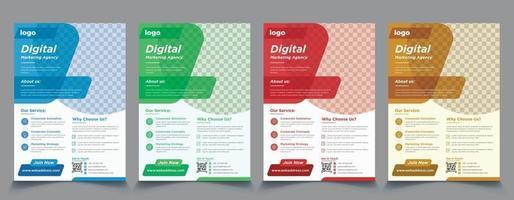 conjunto de design de vetor de modelo de folheto de negócios corporativos