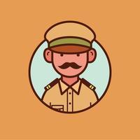 Oficial indiano da polícia vetor
