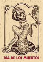 Dia da ilustração morta vetor