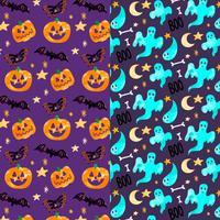 Padrão de halloween bonito vetor