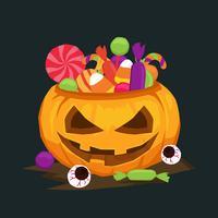 Ilustração do vetor de doces de Halloween