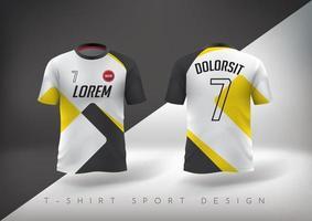 T-shirt esporte de futebol com design justo e gola redonda vetor