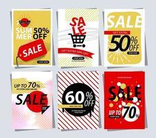 promoção de modelo de banner de desconto de venda vetor