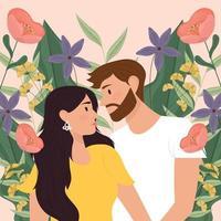 ilustração de casal apaixonado vetor