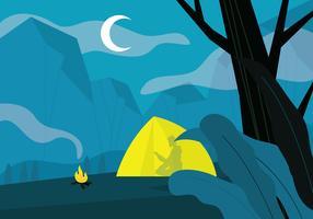 Camping terreno vetor