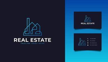 logotipo imobiliário moderno e futurista vetor