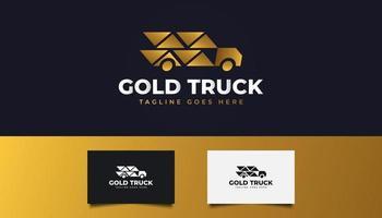 caminhão de entrega expressa ou logotipo de envio rápido vetor