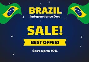 Venda do Dia da Independência do Brasil vetor
