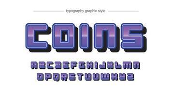 tipografia de cromo roxo arredondado vetor