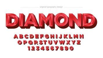 tipografia de luxo joia 3d vermelha vetor