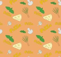 ilustração perfeita sobre o tema pizza vetor
