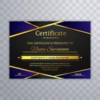 Design elegante modelo de certificado bonito vetor