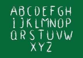 Alfabeto de lousa vetor