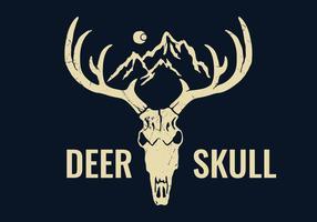 Mão desenhada cervo crânio vetor
