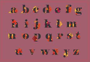 Alfabeto de outono e ilustração de temporada de outono