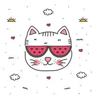 Doodle gato vector