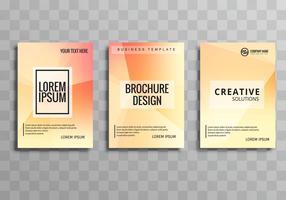 Conjunto de modelo de polígono de brochura negócios abstratos vetor