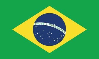 ilustração vetorial da bandeira do brasil vetor