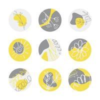 conjunto de ícones para histórias em destaque vetor