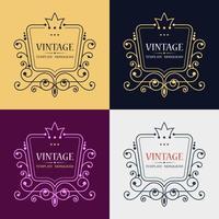 design retro vintage lofo vetor