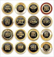 etiquetas de vetor de emblemas de luxo