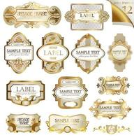 conjunto de etiquetas vintage vetor